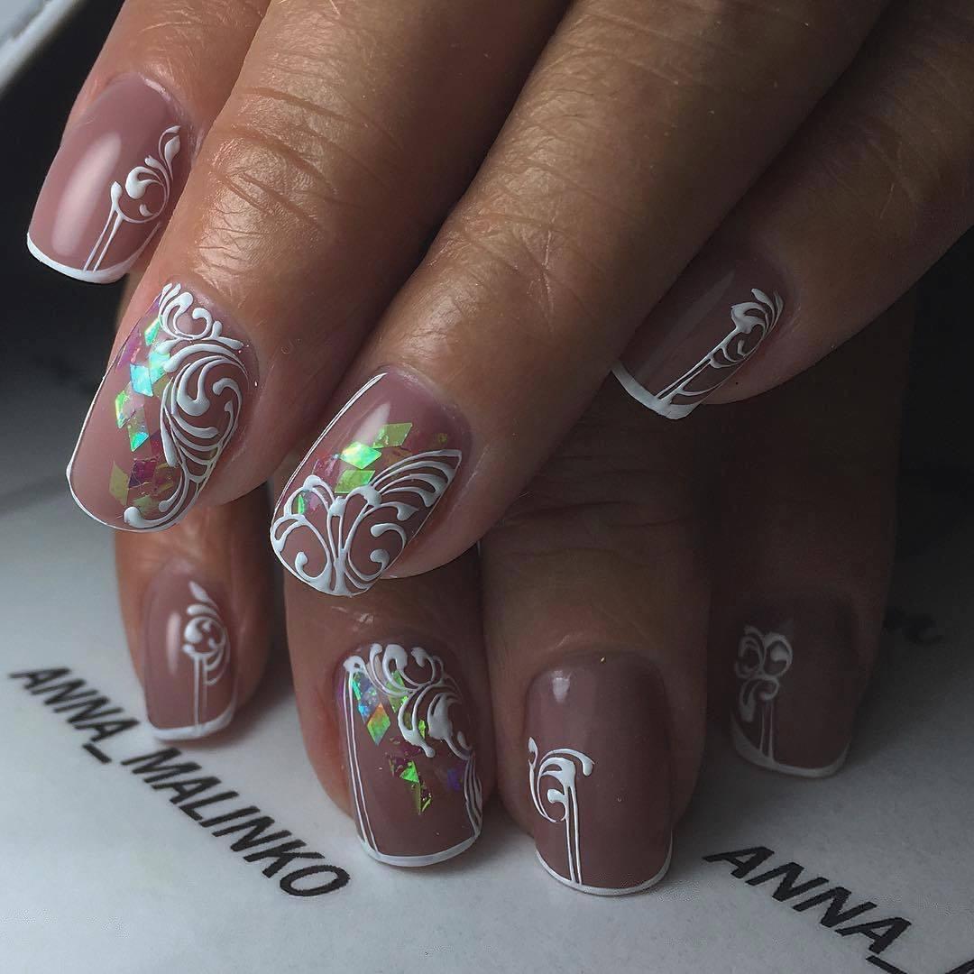 Фото маникюра гель лаком с дизайном 2017-2018 на короткие ногти