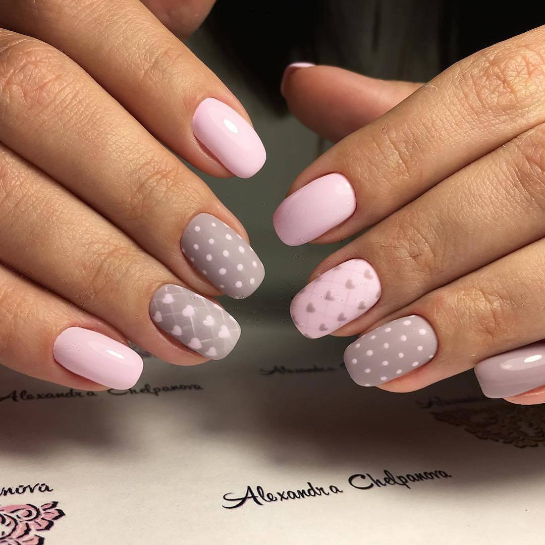 Дизайн нарощенных ногтей  2018 новинки френч 97