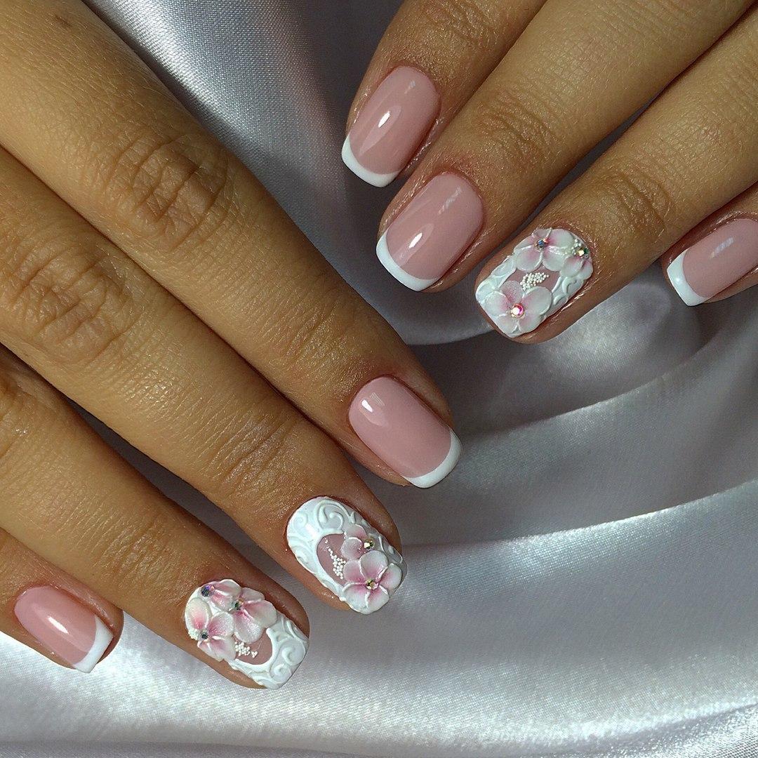 Свадебный френч - фото идей дизайна ногтей - Best Маникюр