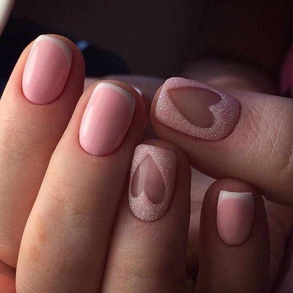 Идеи маникюра на короткие квадратные ногти фото