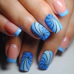 Радужный дизайн ногтей