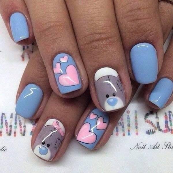 Дизайн ногтей с мишками