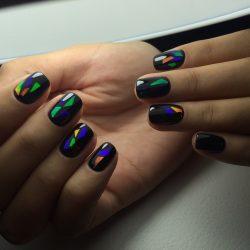 Дизайн ногтей битое стекло фото