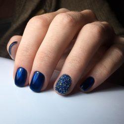 Идеи синего маникюра фото