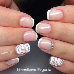 Свадебный френч на ногтях фото