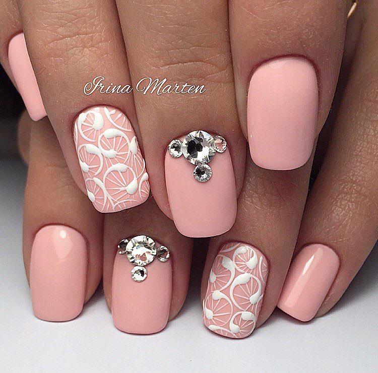 Дизайн ногтей розовые фото