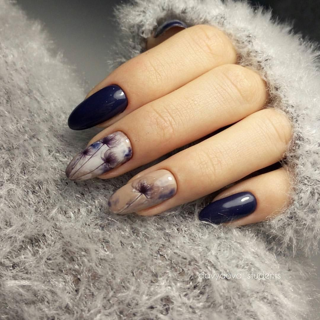 красивые ногти фото 2016 с рисунком на осень