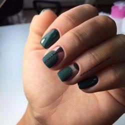 Зеленый маникюр фото
