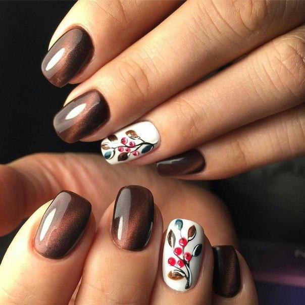 Ногти дизайн осенний фото