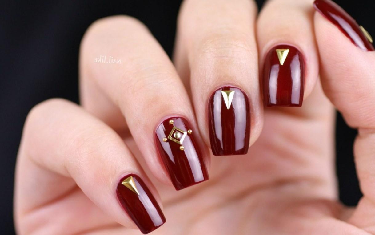 Цвет бордо ногти
