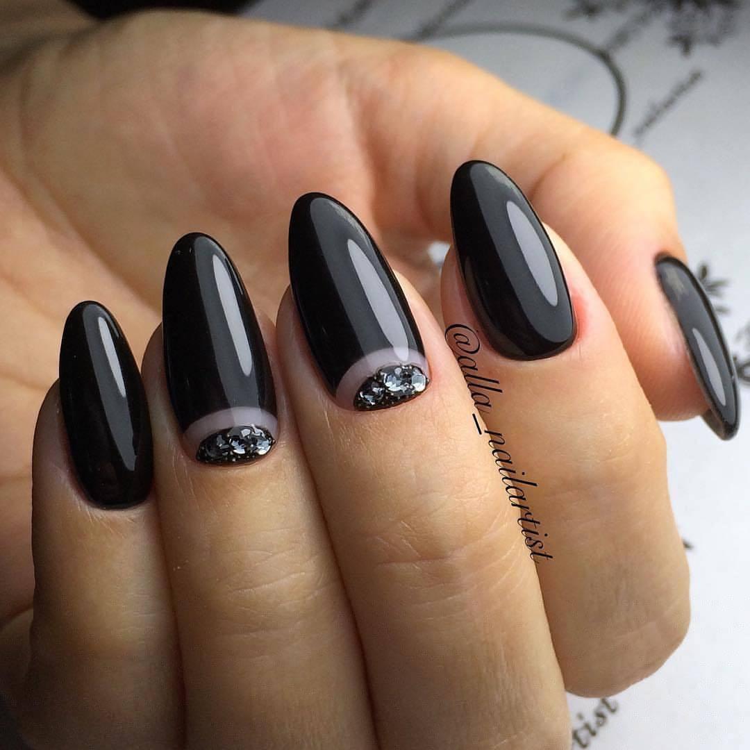 Дизайн нарощенных ногтей  2018 новинки френч 6