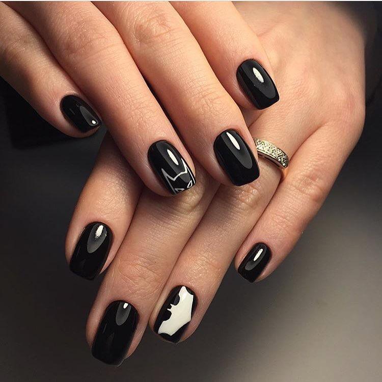 Ногти с бэтменом