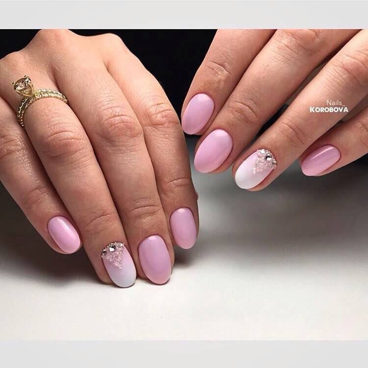Дизайн с омбре на ногтях