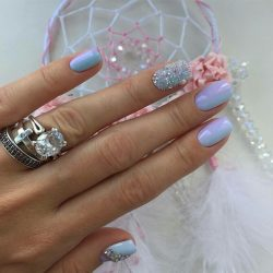 Голубой дизайн ногтей фото