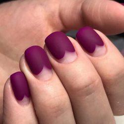 Лунный маникюр на короткие ногти фото