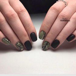 Геометрический маникюр короткие ногти фото