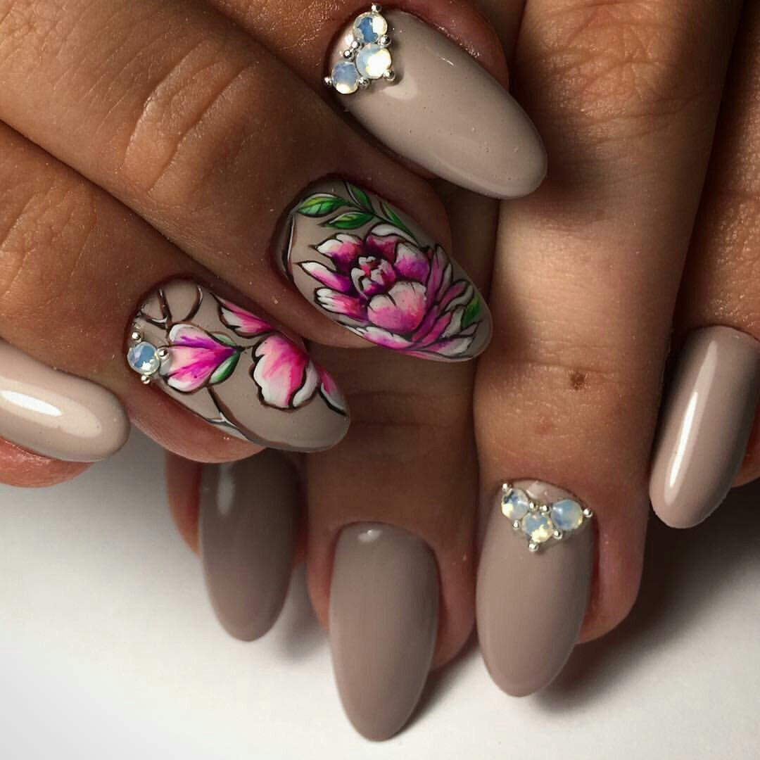 внутренний дизайн ногтей с цветами фото море плавный, благодаря