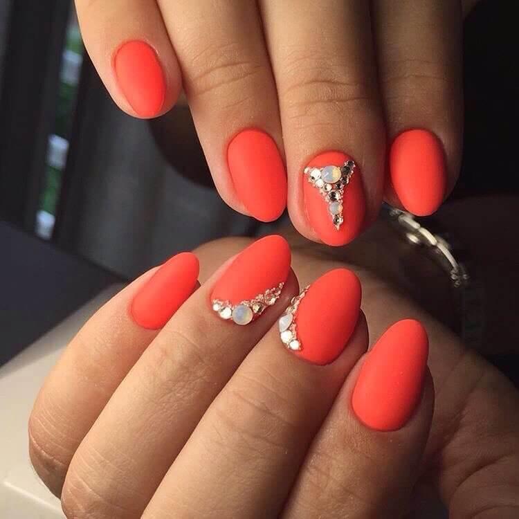 дизайн ногтей фото коралловый