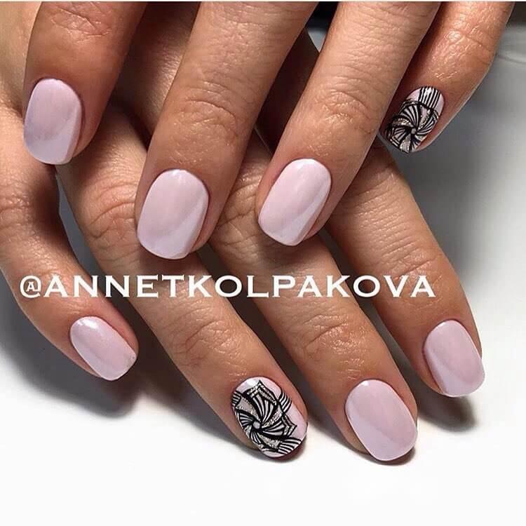 Идеи дизайна ногтей гель лаком на короткие ногти 86