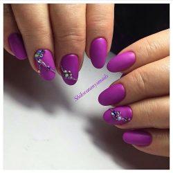 Идеи маникюра фиолетового цвета фото