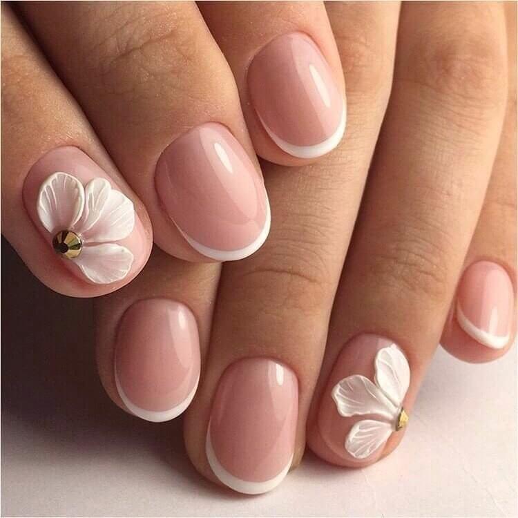 Маникюр на короткие круглые ногти фото дизайн