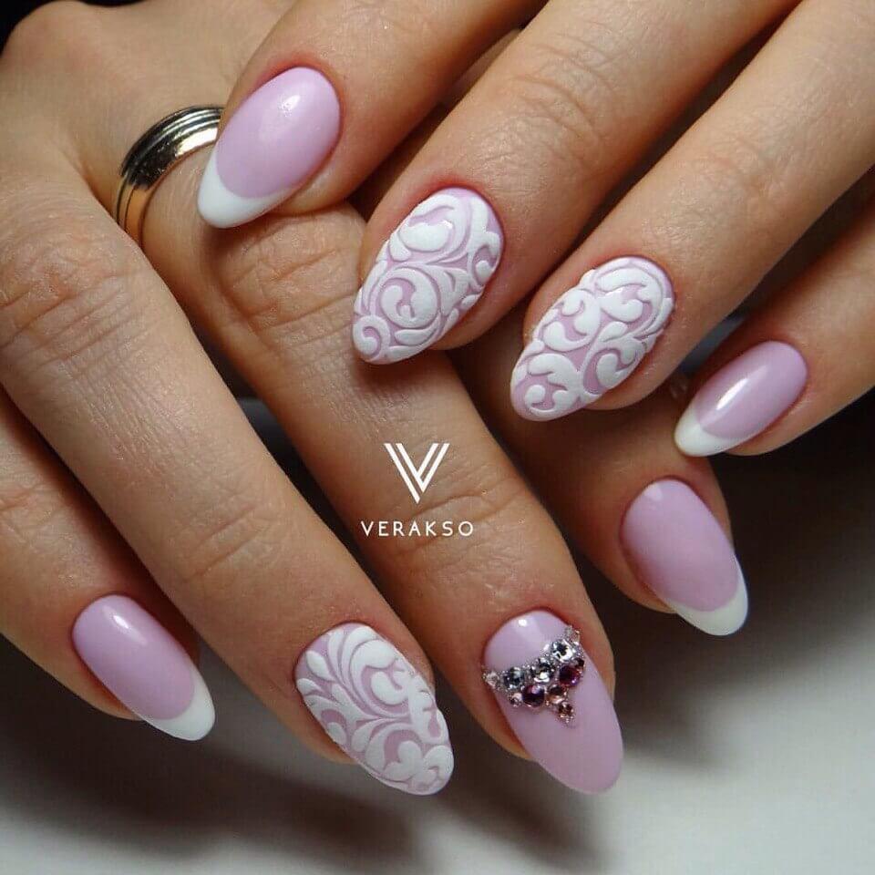 Дизайн ногтей 2017 новинки белый френч весна