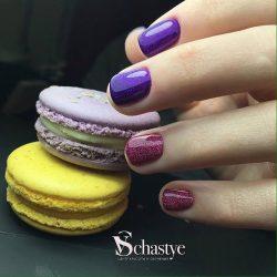 Маникюр фиолетового цвета фото