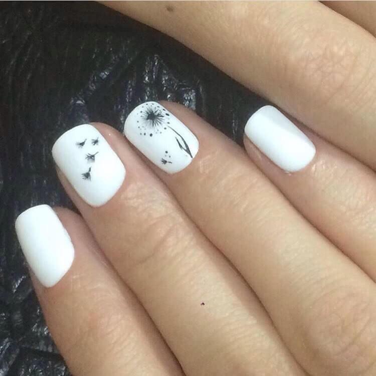Черно Белые Рисунки На Ногтях Фото