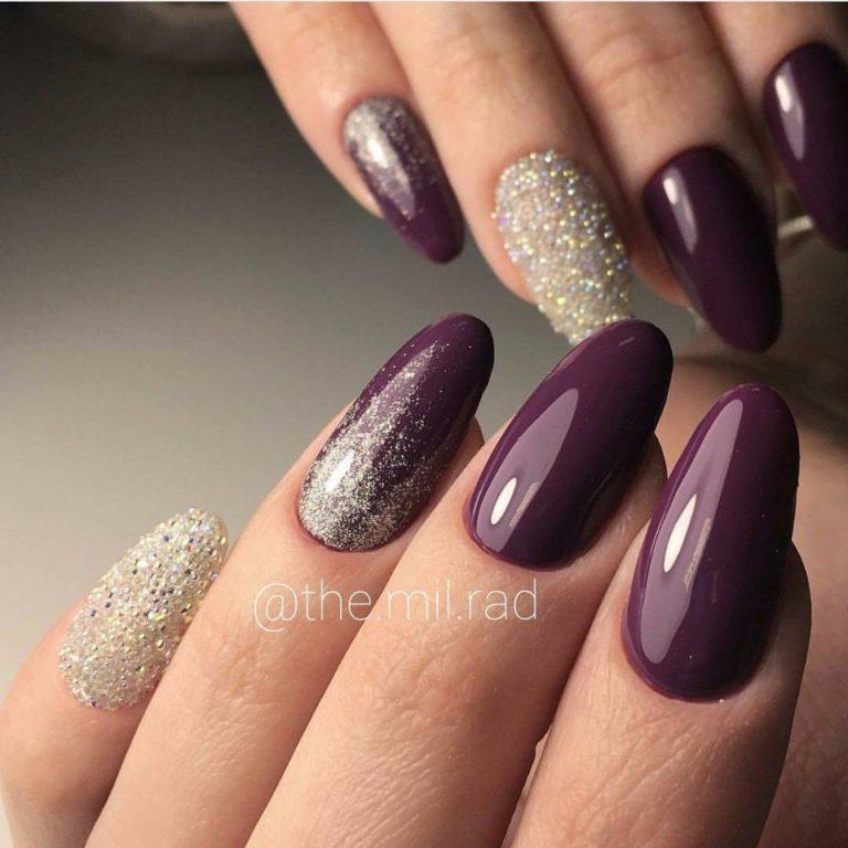 Дизайн ногтей темного цвета 2017