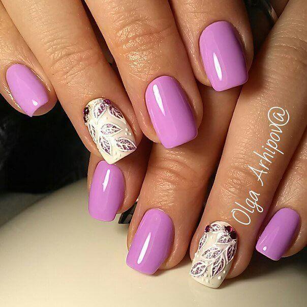 фото дизайн ногтей сиреневый