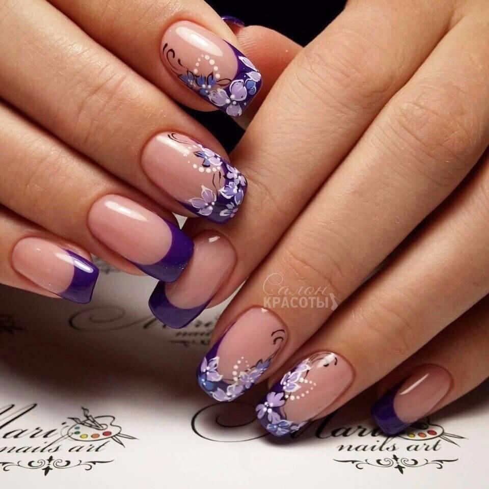 Модные рисунки на ногтях гель-лаком: фото и видео 56