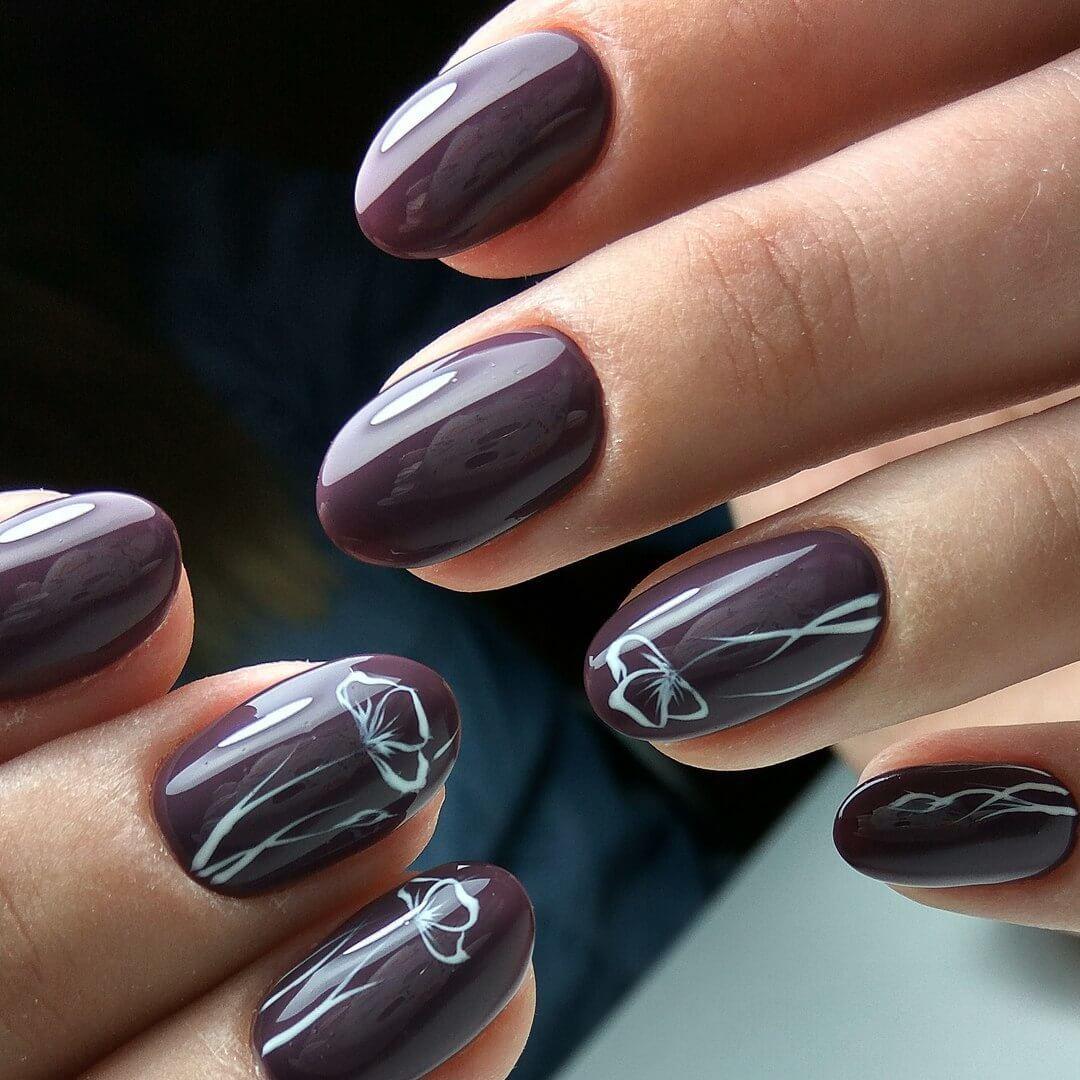Дизайн ногтей закругленной формы 2