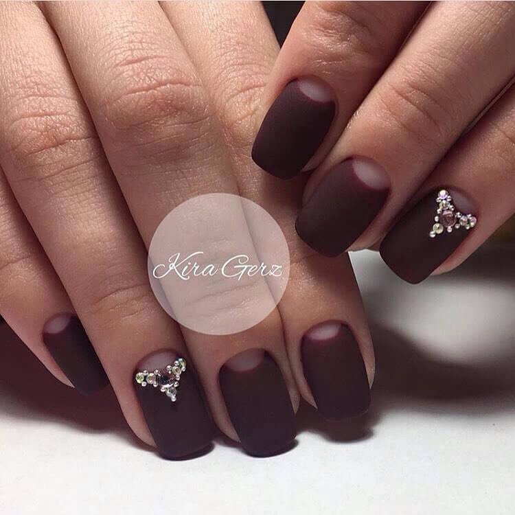 Фото ногти шеллак матовые