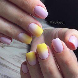 Градиентные ногти фото
