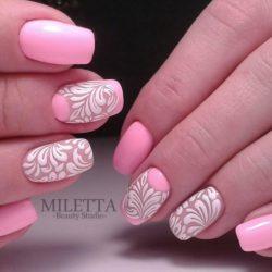 Дизайн ногтей с узором фото