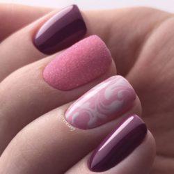 Двухцветный дизайн ногтей фото