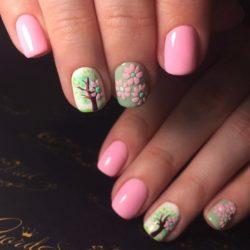 Весенний маникюр на короткие ногти фото
