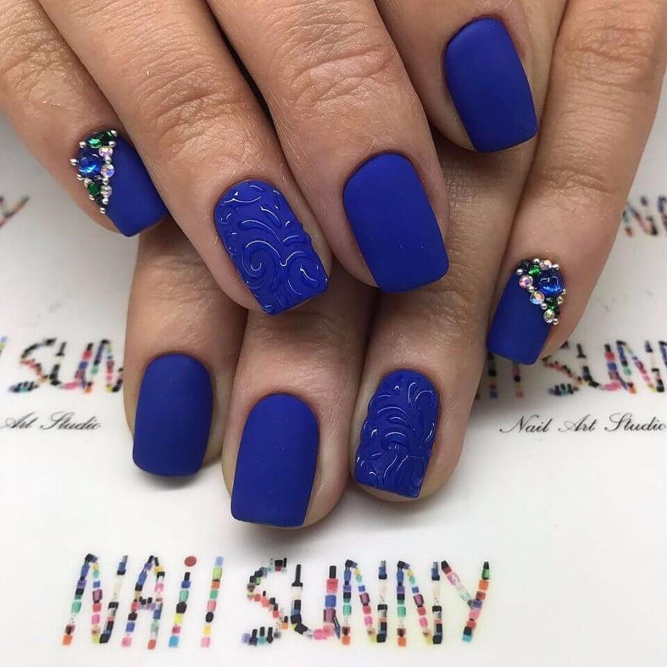 Дизайн ногтей 2017-2018 новинки синий