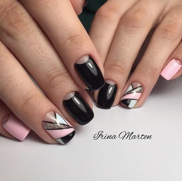 Новогодний маникюр 2015 на короткие ногти гель лаком 12