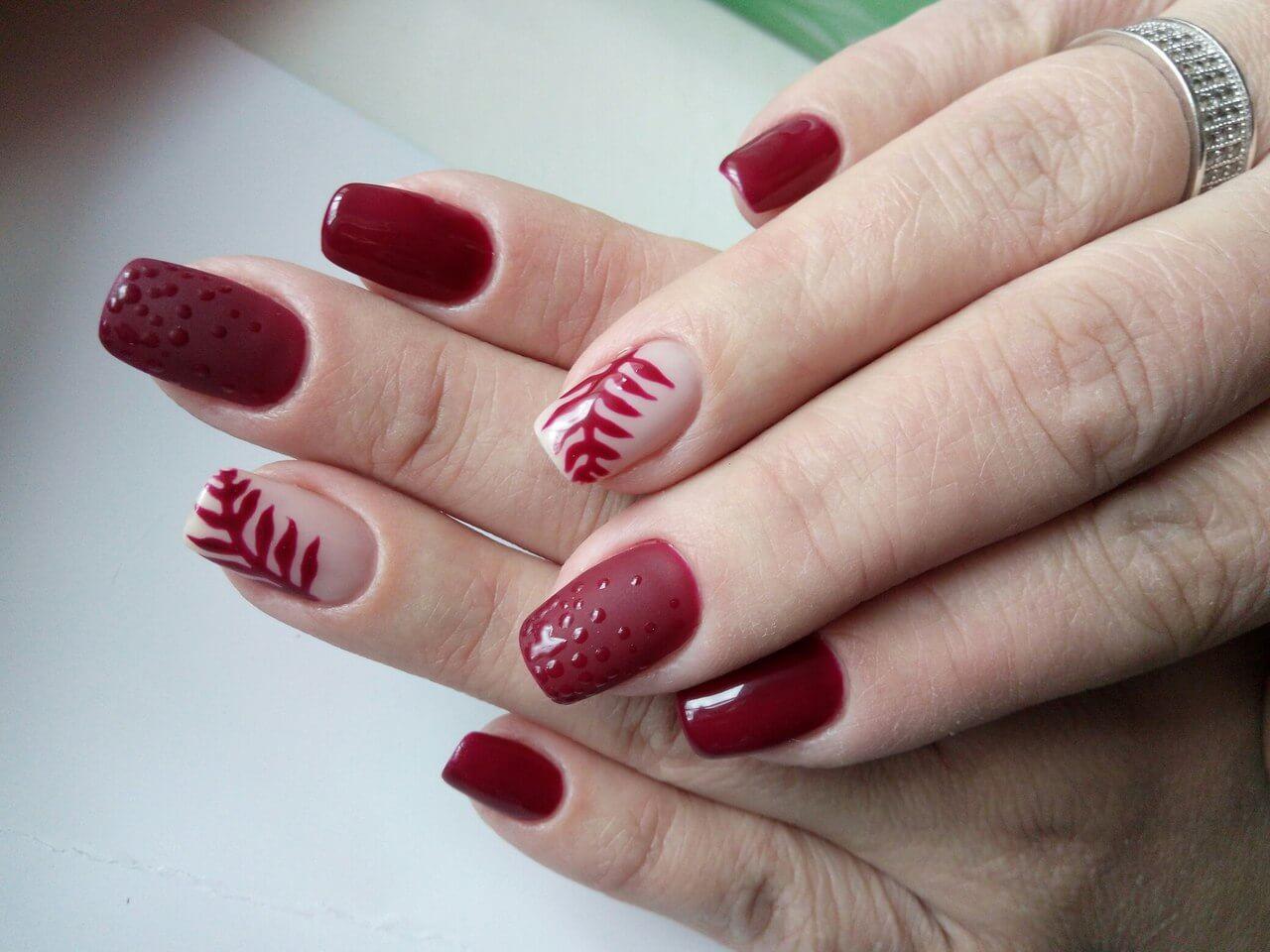Дизайн ногтей разным цветом фото