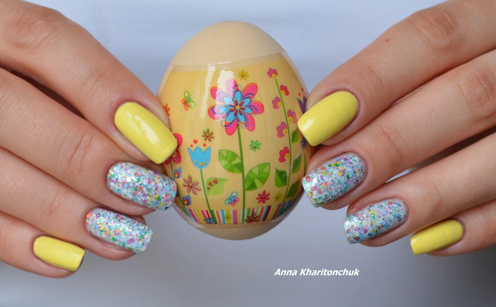 Весенние яркие ногти фото