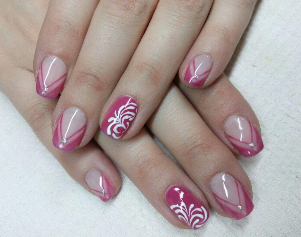 Нарощенные ногти фото френч на гель лаке