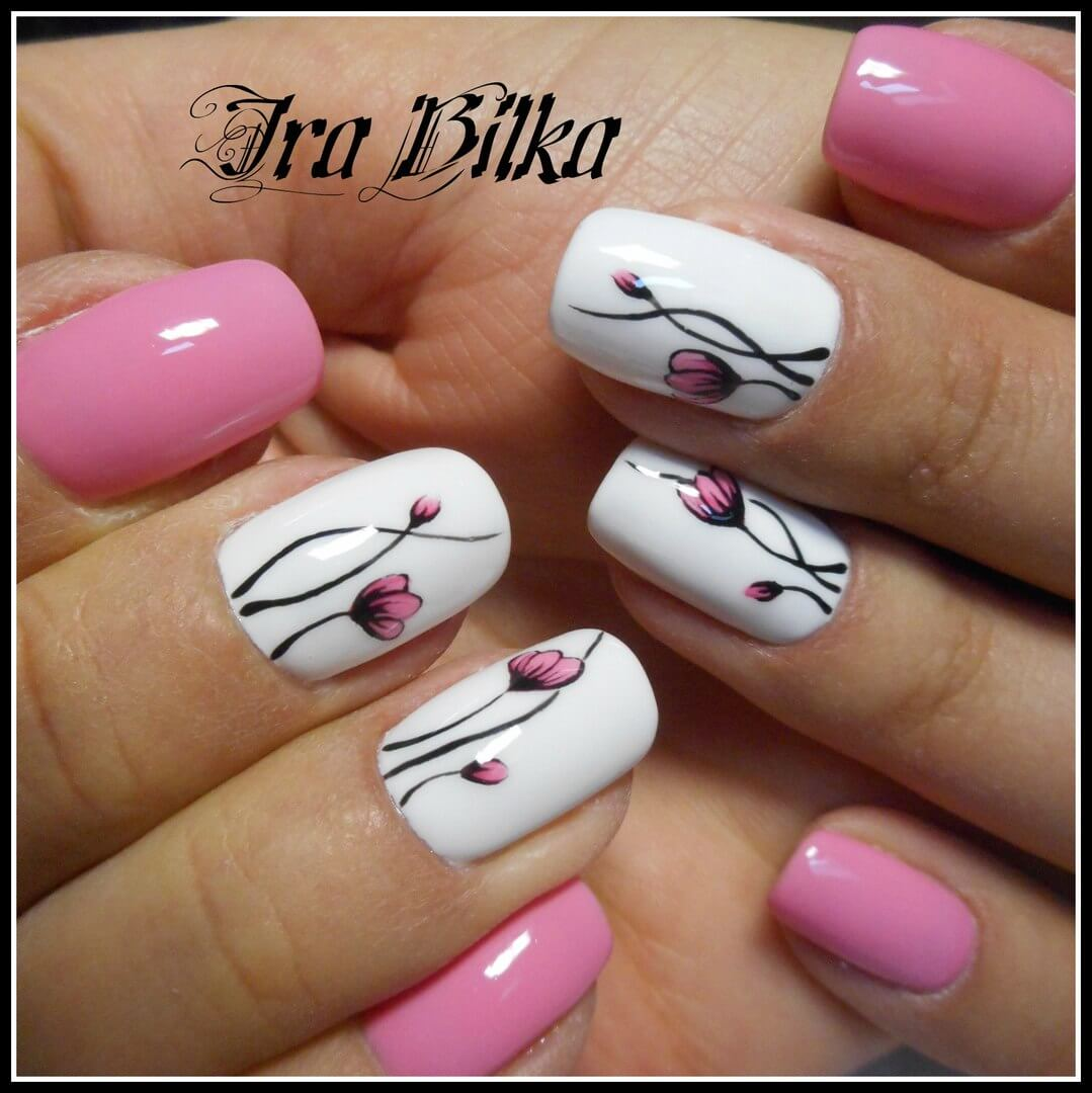 Идеи розовых ногтей