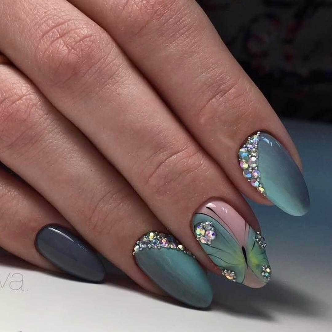 Новинки дизайна ногтей 2017 с втиркой от ведущих мастеров