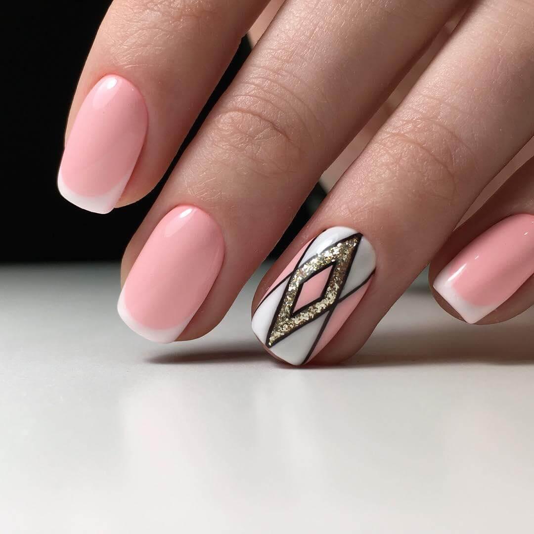 Дизайн ногтей 2017-2018 современные идеи шеллак френч с рисунком