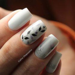Маникюр на квадратные ногти фото
