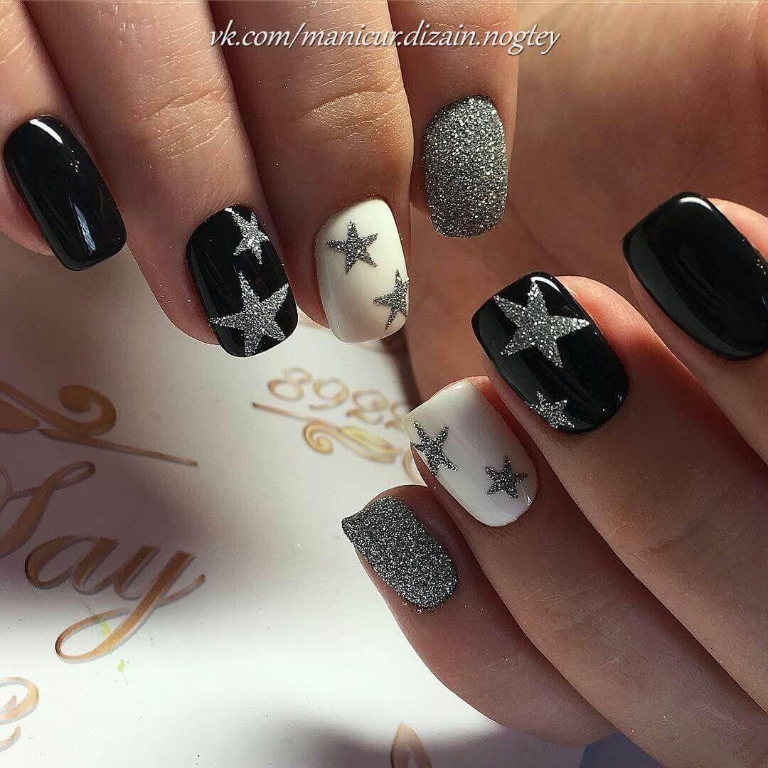 Дизайн ногтей звёзды