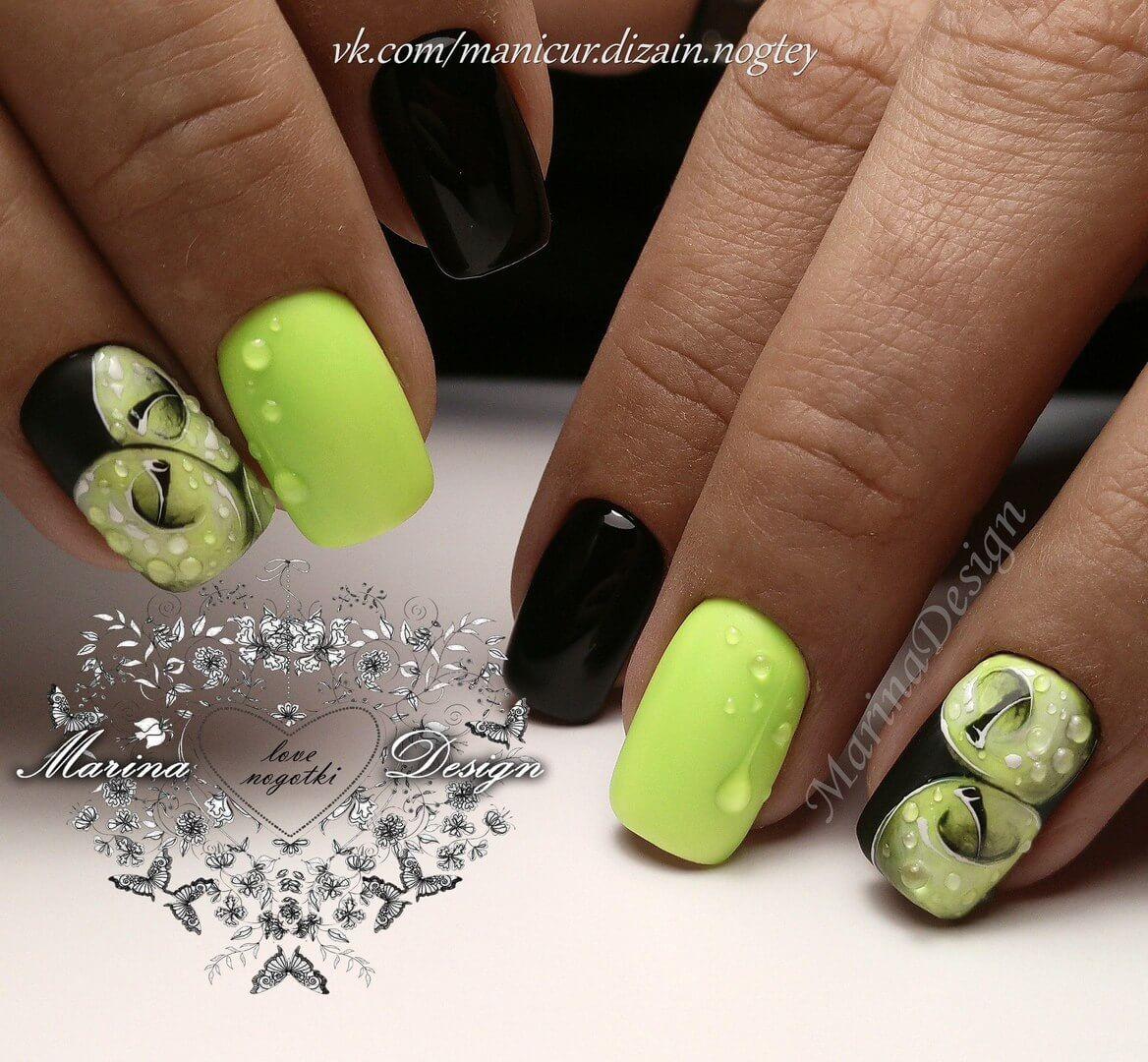Дизайн ногтей с рисунком - фото идей дизайна ногтей - Best Маникюр 73