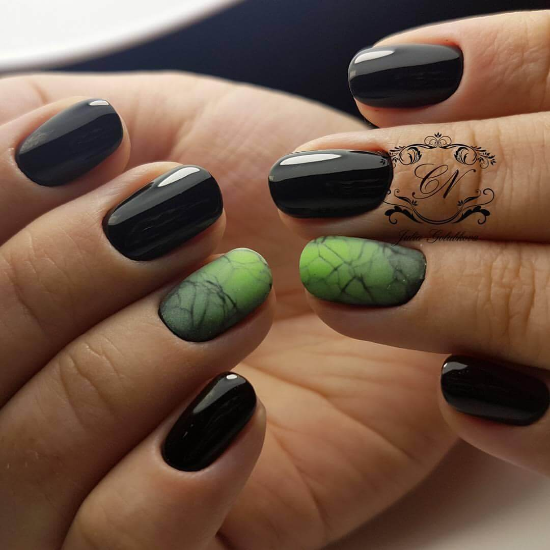 Темный рисунок на ногтях фото 2018 новинки