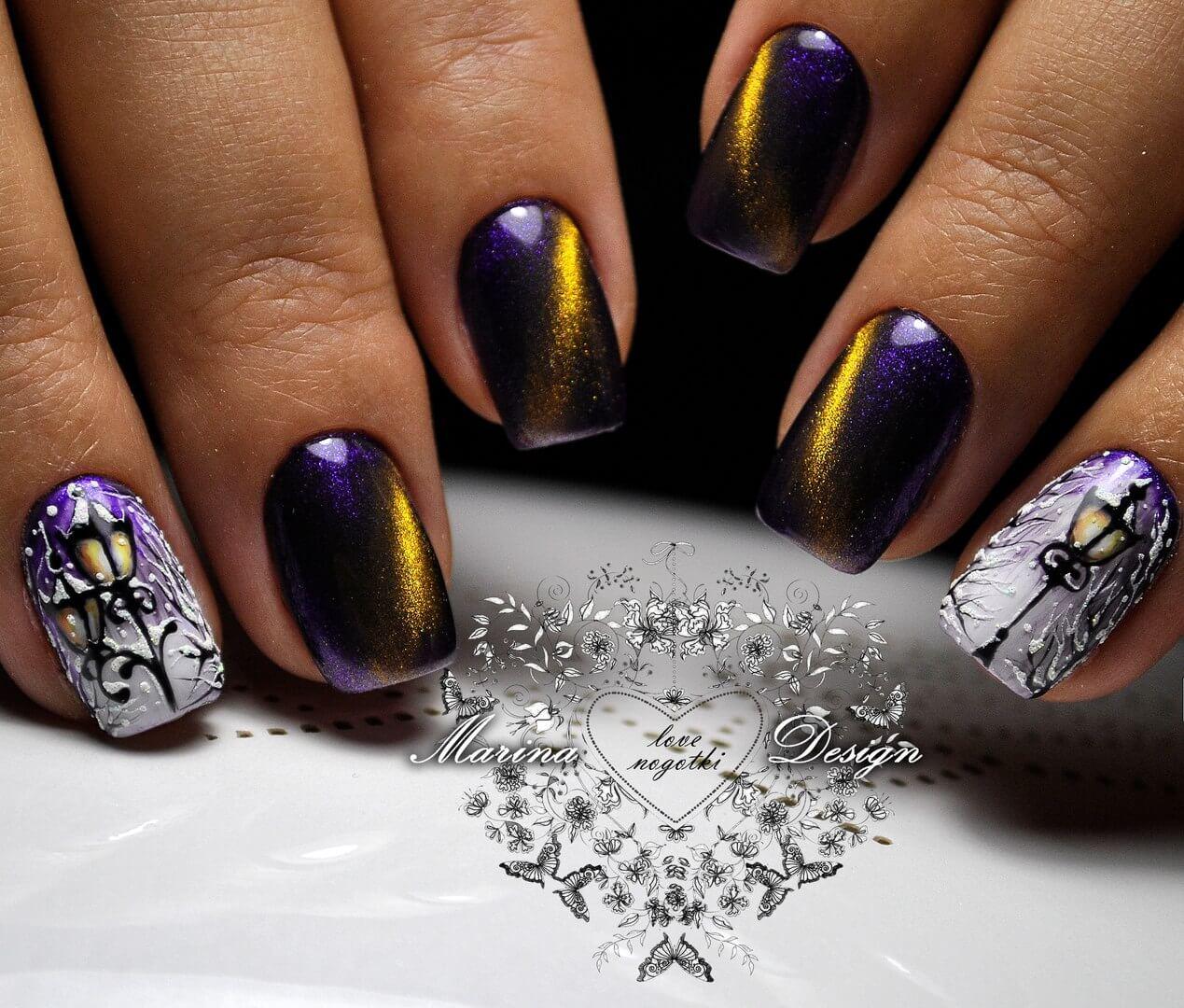 Виды дизайна на короткие ногти